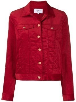 7 For All Mankind corduroy button jacket - Red