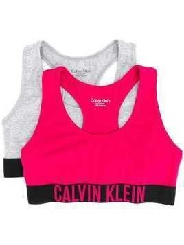 Calvin Klein Kids set of two sports bras - PINK