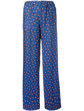 P.A.R.O.S.H. printed stars flared pants - Blue