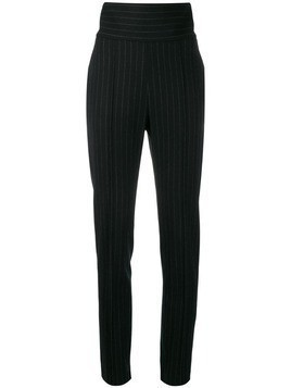 Alexandre Vauthier pinstriped high-waisted trousers - Black