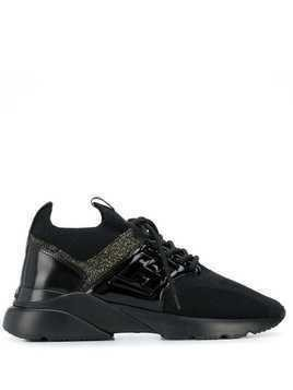 Hogan panelled sneakers - Black