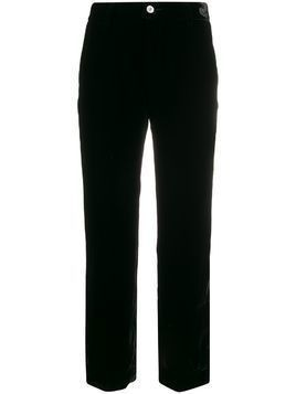 F.R.S For Restless Sleepers straight-leg velvet trousers - Black