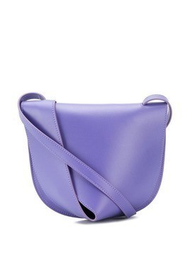 Giaquinto layered leather shoulder bag - PURPLE