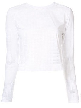 The Upside cropped jersey top - White