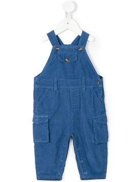 Knot corduroy cargo dungarees - Blue