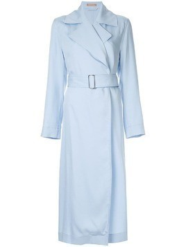 Nehera asymmetric hem trench coat - Blue