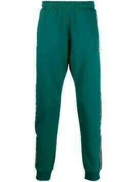 Fila side-stripe tapered track pants - Green