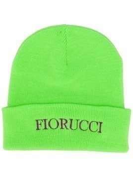 Fiorucci embroidered logo beanie hat - Green