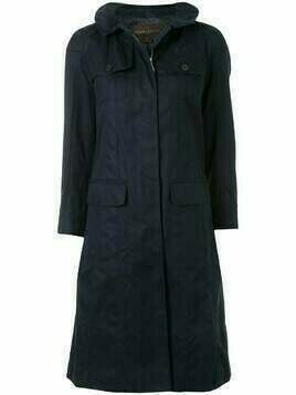 Louis Vuitton pre-owned single-breasted trench coat - Blue