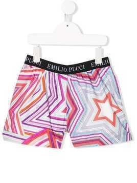 Emilio Pucci Junior abstract print shorts - Pink