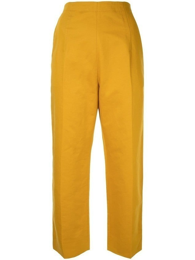 Marni cropped high waisted trousers - Yellow