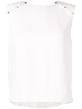 Dice Kayek crystal detail blouse - White