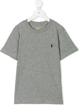 Ralph Lauren Kids logo embroidered T-shirt - Grey
