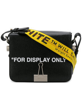 Off-White black For Display Only Leather Shoulder Bag