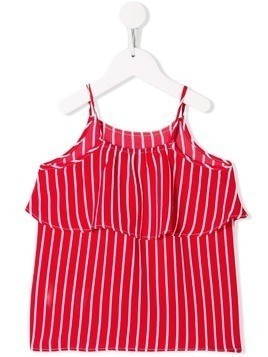 Tommy Hilfiger Junior striped ruffled cami top - Red