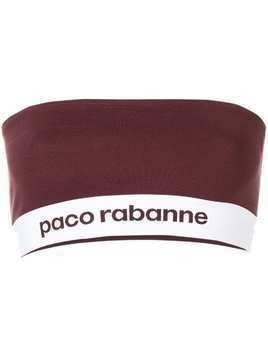 Paco Rabanne logo printed tube top - Red