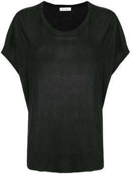 Fine Edge short-sleeve flared T-shirt - Black