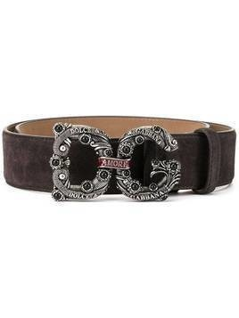 Dolce & Gabbana DG Amore buckle belt - Brown