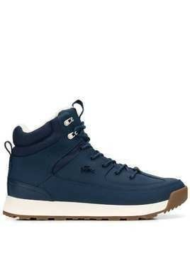 Lacoste logo high-top sneakers - Blue