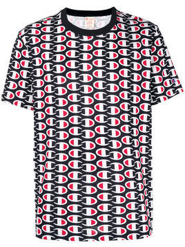 Champion all-over logo print T-shirt - Red