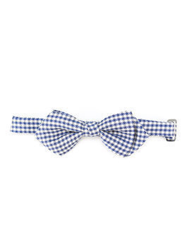 Fay Kids checked bow tie - Blue