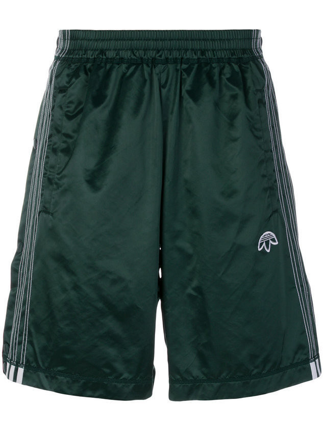 quality design d26d9 3c574 Adidas Originals By Alexander Wang logo embroidered track shorts - Green