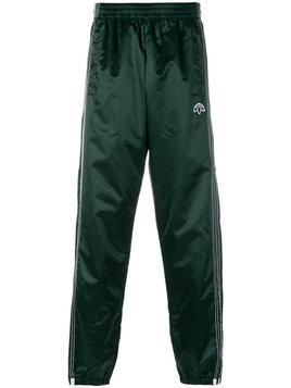Adidas Originals By Alexander Wang - stripe detail tracksuit bottoms - unisex - Polyamide - XXS - Green