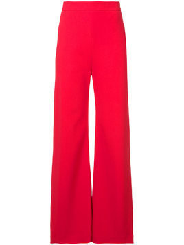 Brandon Maxwell high rise wide-legged trousers - Red