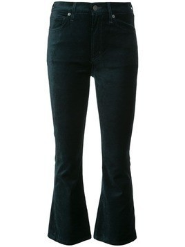 Citizens Of Humanity cropped velvet jeans - Green