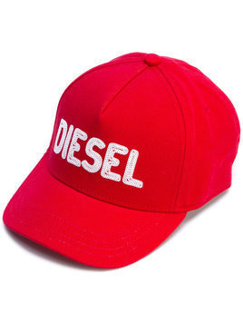 Diesel Kids logo embroidered cap