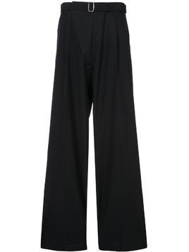 Mackintosh 0002 wide-leg tailored trousers - Black