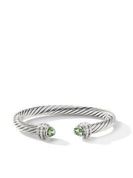 David Yurman Cable prasiolite and diamond cuff - SSAPLDI