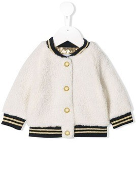 Little Marc Jacobs contrast bomber jacket - White