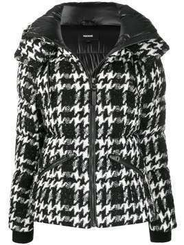 Mackage houndstooth padded jacket - Black