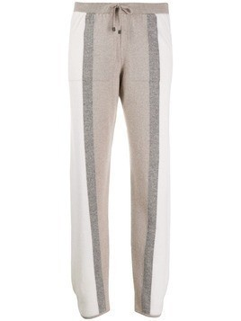 Lorena Antoniazzi striped knit trousers - White
