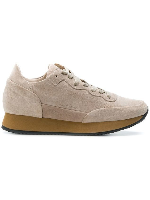 Philippe Model lace-up sneakers - Nude & Neutrals