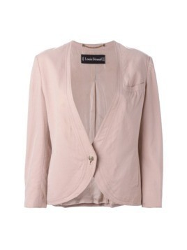 Louis Feraud Pre-Owned collarless jacket - PINK