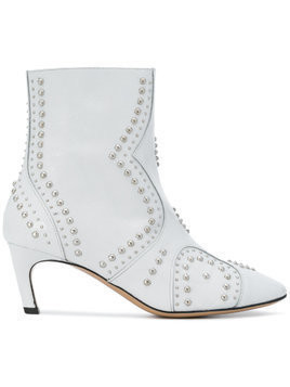Marc Ellis studded ankle boots - White