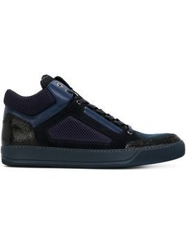 Lanvin textured hi-top sneakers - Blue