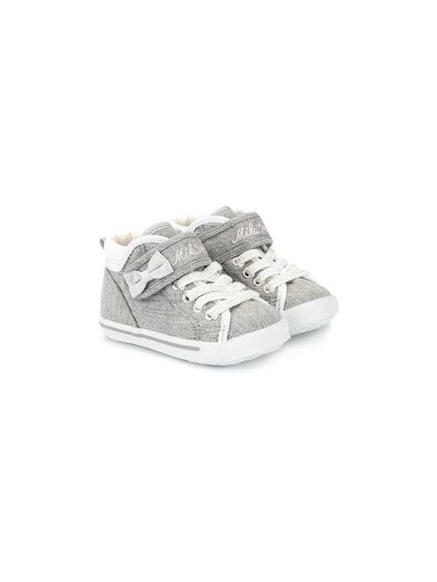 Miki House bow detail sneakers - Grey