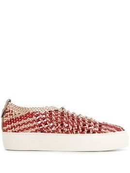 AGL woven contrast sneakers - Red
