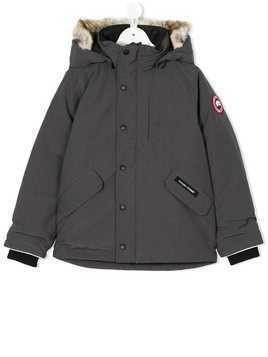 Canada Goose Kids faux fur hooded jacket - Grey