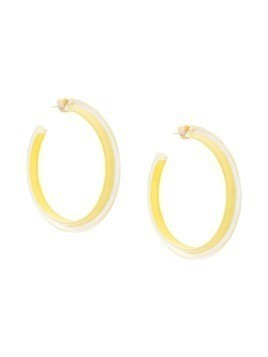 Alison Lou Large Jelly Hoop earrings - Yellow