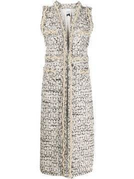 Edward Achour Paris embellished tweed vest - Grey