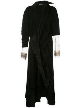 Aganovich asymmetric velvet jacket dress - Black