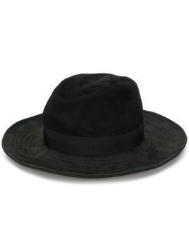 Borsalino wide brimmed hat - Black