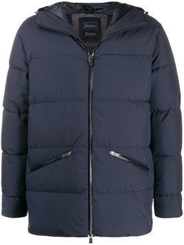 Herno hooded zip-up padded jacket - Blue