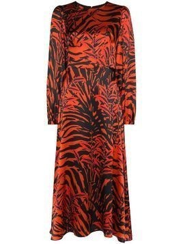 Borgo De Nor Elitsa tiger-print midi dress - Black
