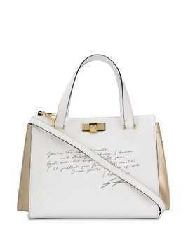 Giancarlo Petriglia text print tote - White