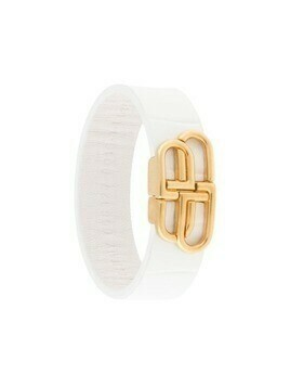 Balenciaga BB thin bracelet - White